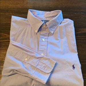 Polo by Ralph Lauren blue long sleeve casual shirt